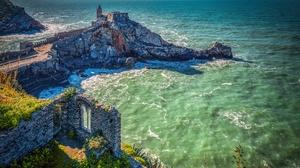 Cape Church Coast Italy Liguria Sea 2125x1700 Wallpaper