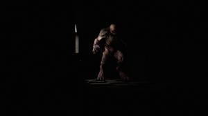 Doom 3 Doom Game Video Game Art Digital 3D Hell Demon Horror Spooky Lights Goosebumps Dark Hallway I 2560x1440 Wallpaper
