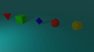 Platonic Solids Geometry Abstract Simple 3D 3d Object Blender Render CGi Minimalism Digital Art Simp 7680x4320 Wallpaper