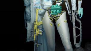 Park Jin Kwang Women Machine Cyborg Simple Background Black Background Digital Art Science Fiction W 1920x2789 Wallpaper