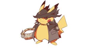 Bloodborne Hunter Bloodborne Pikachu Pokemon Sword Hat Artsy RC 2560x1440 Wallpaper