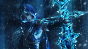 League Of Legends Ashe League Of Legends Video Game Art Nixeu Arrows Warrior Fantasy Art Bow PC Gami 9600x5598 Wallpaper