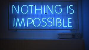 Neon Sign Blue Motivational 6000x4000 wallpaper