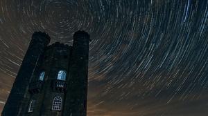 Building Night Star Trail 2048x1367 Wallpaper