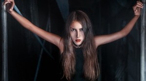 Face Hair Lipstick Nelya Pirozhkova 2560x1707 Wallpaper