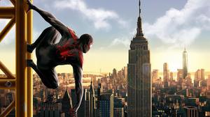 Marvel Comics Miles Morales Spider Man Spider Man Into The Spider Verse 3840x2485 Wallpaper