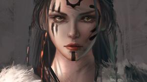 Artwork Fantasy Art Fantasy Girl Women Vikings Trungbui 1920x2585 wallpaper