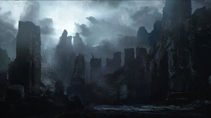 City Post Apocalyptic Skyscraper 2560x1153 Wallpaper