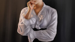 Valentina Tavolilla Fan Art Portrait Display Digital Art White Clothing White Shirt Dress Elves Earr 3000x3700 Wallpaper