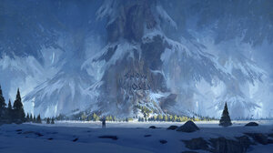 Thomas Stoop Digital Art Fantasy Art Forest Winter Trees Snow 1920x1080 Wallpaper