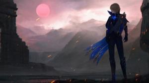 Genshin Impact Daiyin Anna Drw01 Landscape Standing Sky Brunette Anime Sun 3840x2122 Wallpaper