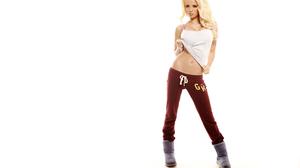 Blonde Pink Looking At Viewer Sweatpants Women 2560x1707 Wallpaper