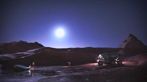 Render Rendering CGi Digital Art Planet Astronaut 3840x2160 Wallpaper