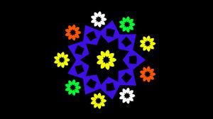 Colorful Digital Art Flower Geometry Shapes 1920x1080 Wallpaper