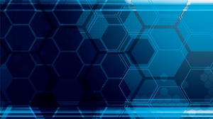 Blue Digital Art Hexagon Pattern 1920x1440 Wallpaper