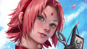 Face Girl Naruto Pink Hair Sakura Haruno Short Hair 2782x1565 Wallpaper