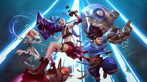 League Of Legends Lux League Of Legends Jinx League Of Legends Yasuo League Of Legends 4088x2298 Wallpaper