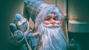 Beard Christmas Gift Santa Santa Hat 3840x2560 Wallpaper