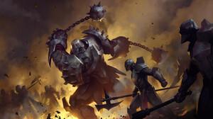 Knight Armor Battle Flail 2000x1080 Wallpaper