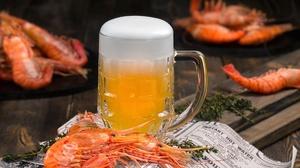 Alcohol Beer Drink Glass Seafood Shrimp 1920x1230 Wallpaper