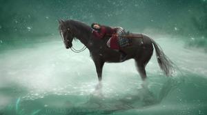Mulan Sad HiLiuyun Ancient Crystal Asia River Starry Night Horse 1920x913 Wallpaper