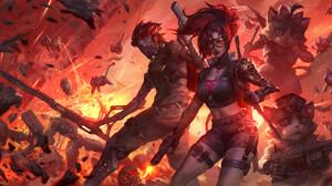 Mist XG Drawing War Fighting Sparks Men Women Weapon Blades Gun 1920x960 Wallpaper
