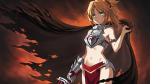 Anime Girls Sword Mordred Fate Apocrypha Fate Series Fate Apocrypha Tonee Blonde Green Eyes Grin Arm 1946x1310 Wallpaper