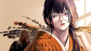Anime Anime Girls Digital Art Artwork 2D Portrait Original Characters Japanese Kimono Women With Gla 1920x1080 Wallpaper