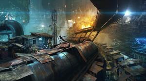Alita Alita Battle Angel Cyberpunk Cityscape Futuristic City 3840x2075 Wallpaper