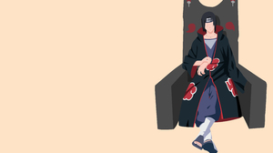 Akatsuki Naruto Black Hair Itachi Uchiha Minimalist Naruto Throne Uchiha Clan Warrior 4098x2304 Wallpaper