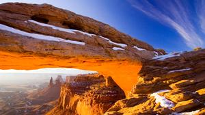 Arch Arches National Park Cliff Landscape Rock Usa Utah 2560x1600 wallpaper