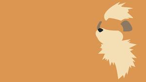 Growlithe Pokemon Minimalist 1920x1080 Wallpaper