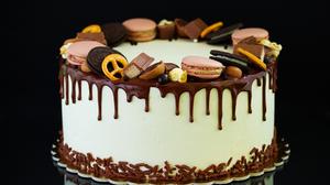 Cake Chocolate Macaron Oreo Pastry 3842x2920 Wallpaper