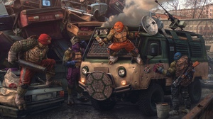 Teenage Mutant Ninja Turtles Fan Art Russia Evgeny Zubkov UAZ 4096x2557 Wallpaper