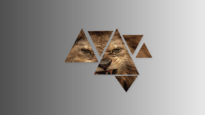 Abstract Lion Triangle 2560x1440 wallpaper