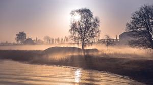 Fog Sunrise 3840x2160 Wallpaper