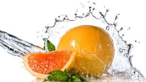 Splash Water Orange Fruit 3323x2225 Wallpaper