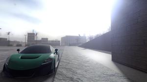 McLaren Sun Rays Parking Lot Wall Sidewalks City Pacifico Roblox Game Roblox 3588x1892 Wallpaper