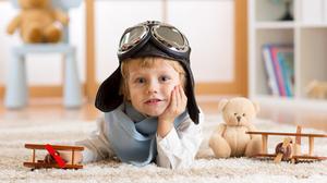 Aviator Helmet Blue Eyes Boy Child Depth Of Field Little Boy Teddy Bear Toy 4531x3021 Wallpaper