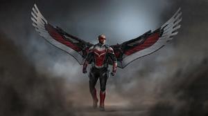 Falcon Marvel Comics Anthony Mackie Sam Wilson Marvel Comics Wings 3840x2160 Wallpaper