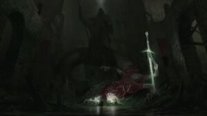 Artem Demura Dark Digital Art Fantasy Art Creature Sword Statue Crown 1920x983 Wallpaper