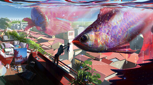 Cat Fish 2560x1198 Wallpaper