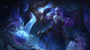 Illaoi League Of Legends Riot Games Space Galaxy Stars Cosmic Break Invoker 7680x4320 Wallpaper
