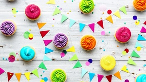 Colorful Colors Cupcake Sweets 5760x3840 Wallpaper