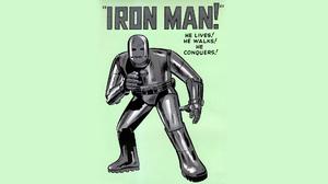 Marvel Comics Iron Man Green Background Comics 1920x1080 Wallpaper