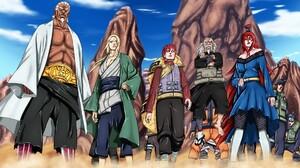 Naruto Shippuuden Tsunade Gaara Hokage Mei Terumi Dust Raikage Tsuchikage Anime 1810x1300 Wallpaper