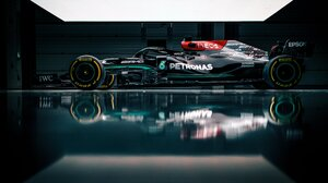 Formula 1 Mercedes AMG W12 E Race Cars Car Vehicle Sport Motorsport Sports Motorsports Reflection Me 4096x2732 Wallpaper