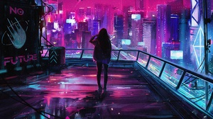Cyberpunk Cityscape 3840x2160 Wallpaper