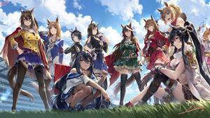 Anime Anime Girls Uma Musume Pretty Derby Animal Ears Tail NEKO Yanshoujie 1800x930 Wallpaper