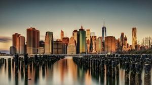 Building City Manhattan New York Skyscraper Usa 2048x1366 Wallpaper